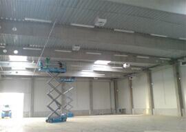 Euro-Gumi - Lámpa szerelés 8m magasban